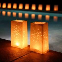 LightBAG Diseño Fuegos artificiales Blancas