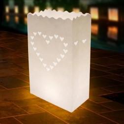 LightBAG Diseño corazón Blanco