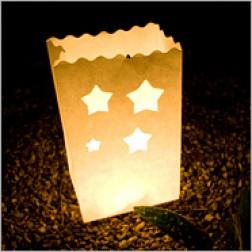 LightBAG Diseño Estrellas Blancas